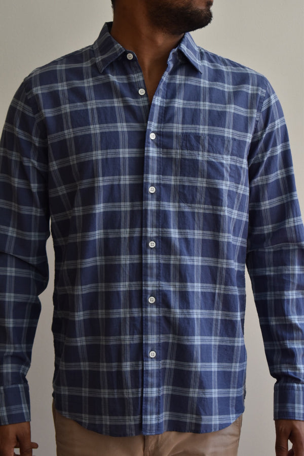 Faherty Cloud Summer Blend Shirt Santa Clara Plaid