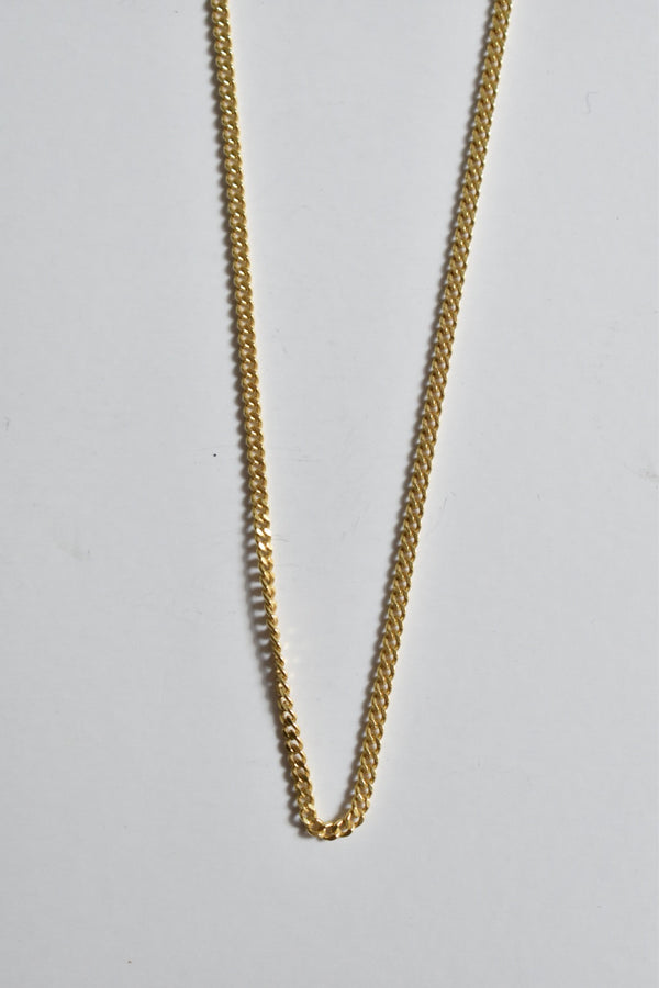 Miansai 2mm Cuban Chain Necklace, Gold