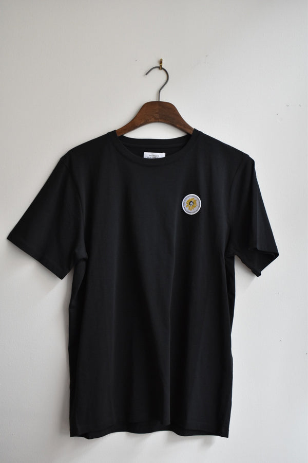 Saturdays Daisy Patch Short Sleeve Tee Black
