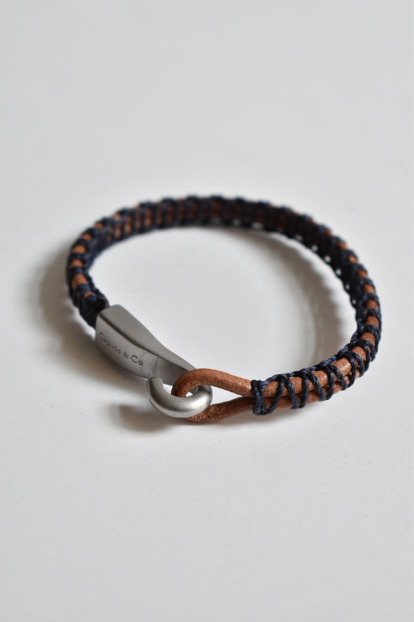 Caputo & Co Hand Woven Big Hook Bracelet Dark Navy