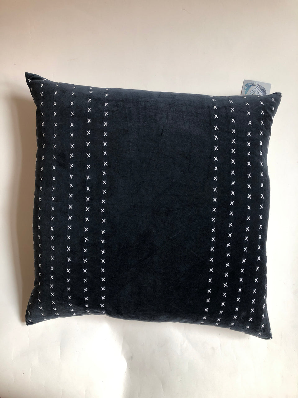 Kevin O'Brien Stripe Stitched Velvet Pillow