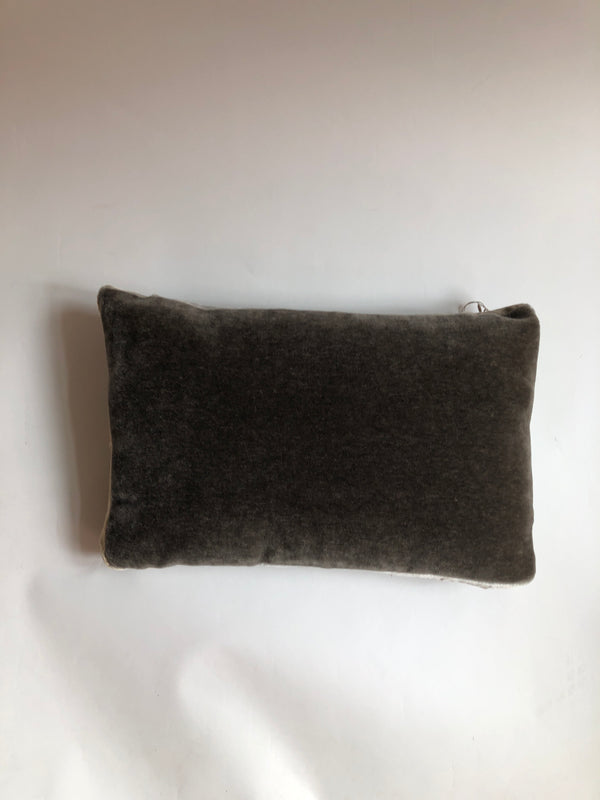 Kevin O'Brien Mohair Tuxedo Box Pillow