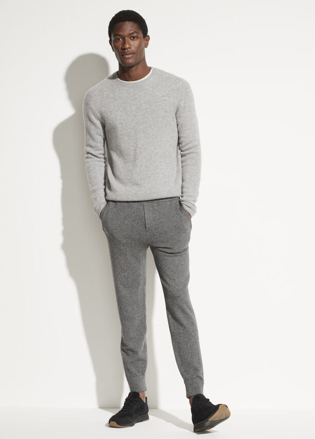 Vince Plush Cashmere Crew Heather Grey