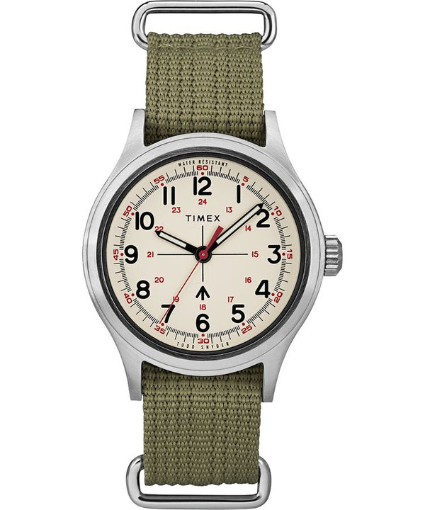 Timex Todd Snyder Military Watch Silvertone Olive