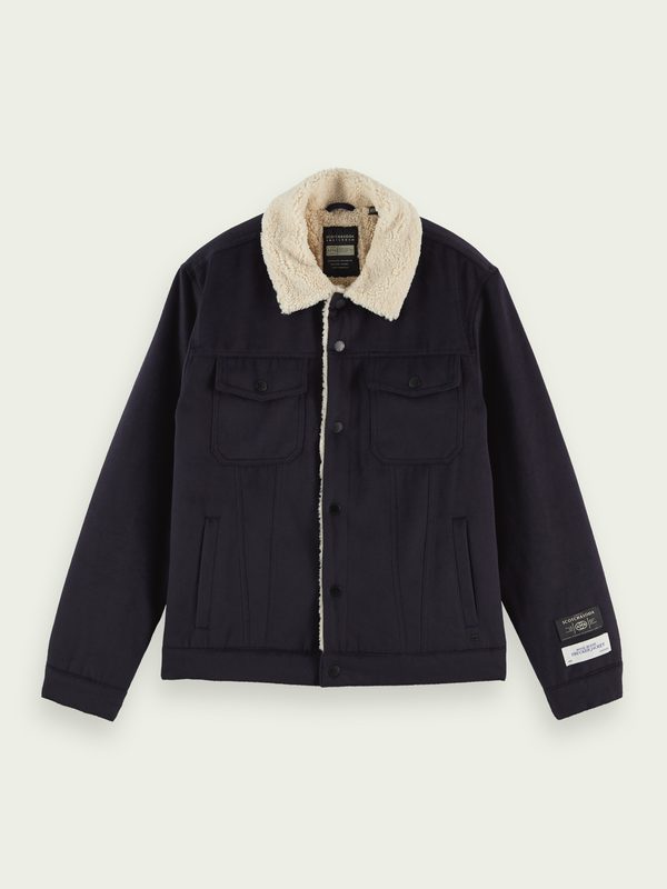 Scotch & Soda Sherpa Lined Trucker Jacket