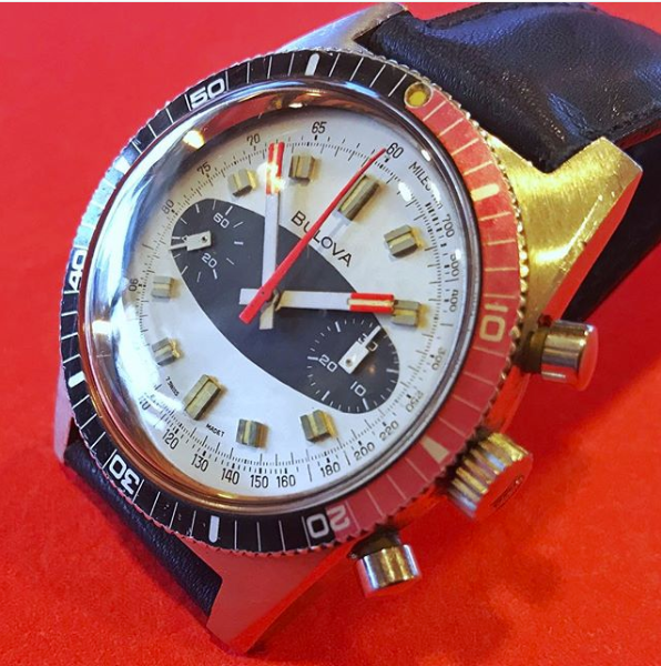 1970 Bulova 666 Surfboard Dive Chrono