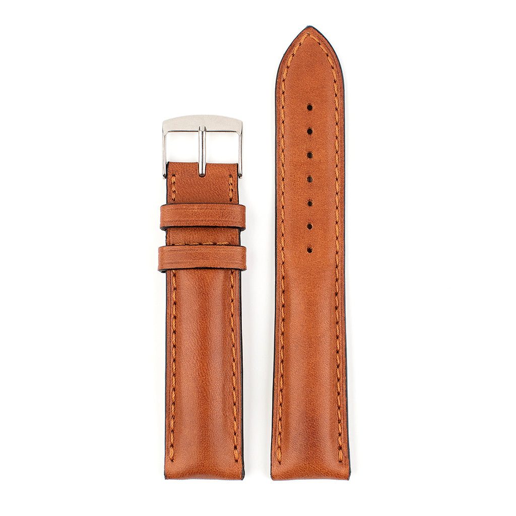VAPAUS watch strap thick tan leather
