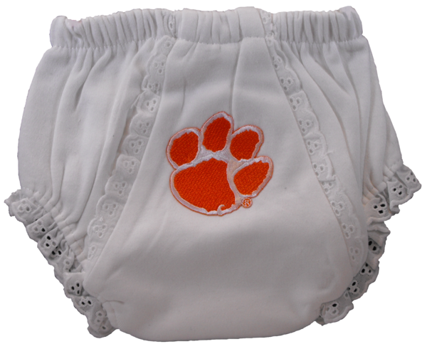 Clemson Baby Eyelet Bloomers