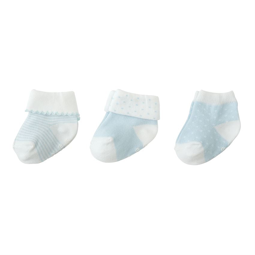 MudPie - Blue Layette Sock Set