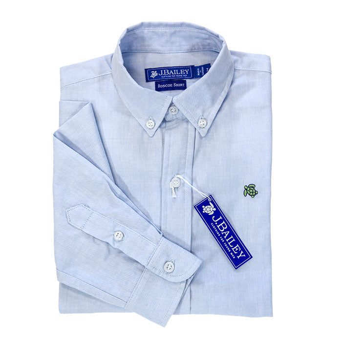 J. Bailey - Button-down Oxford Shirt in Blue or White