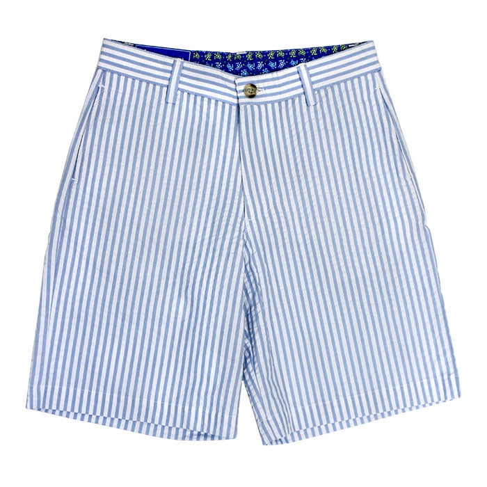 J. Bailey - Boys' Pete Shorts in Blue Stripe Seersucker