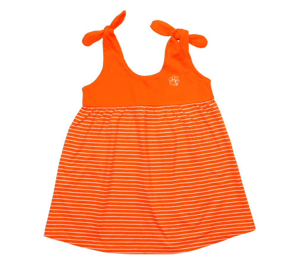 Girls' Clemson Striped Sundress