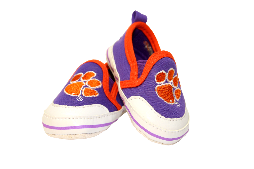 Clemson Baby Tiger Crib Shoes