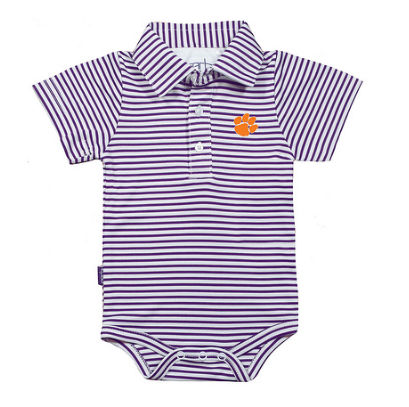Boys Knit Polo Creeper in Purple