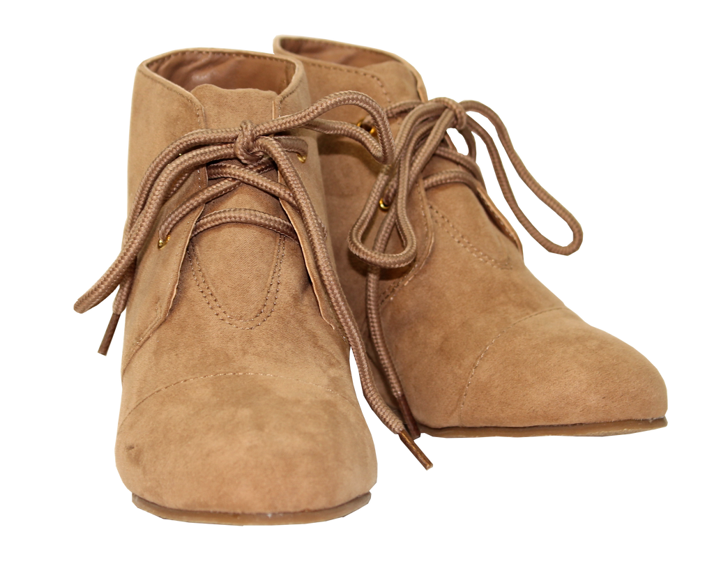 Suede Lace-Up Wedge Bootie by Volatile Kids