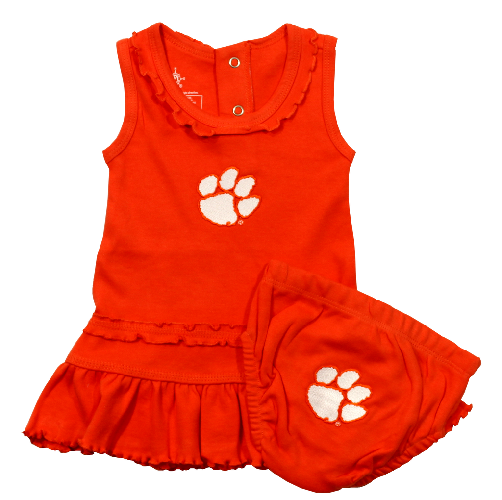 Clemson Ruffle Dress and Bloomers