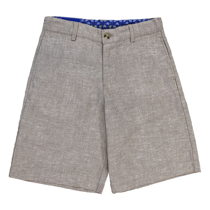 J. Bailey - Boys' Pete Shorts in Flax Linen