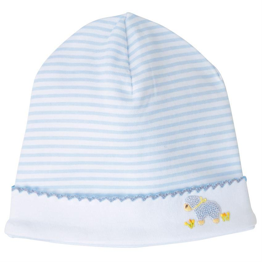 MudPie - French Knot Blue Lamb Cap