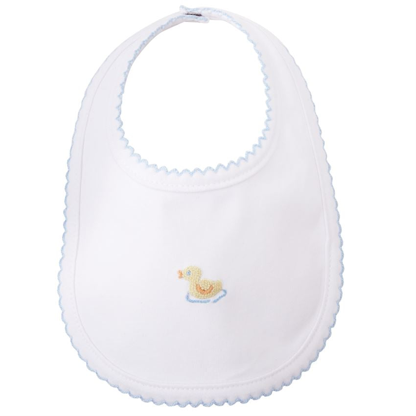 MudPie - French Knot Duck Bib