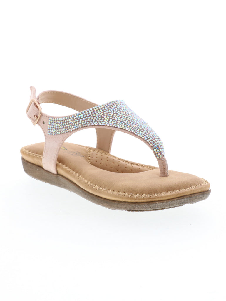 Glitter Sandal in Blush by Volatile Kids