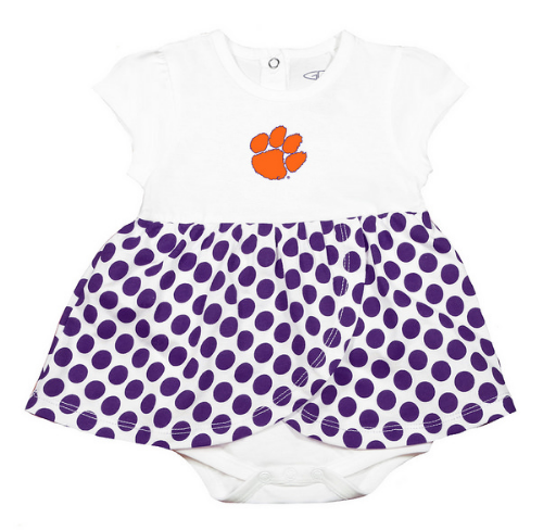 Girls' Clemson Skirted Creeper