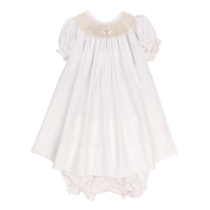 Bailey Boys - Girls' Smocked Christening Gown with Bloomers