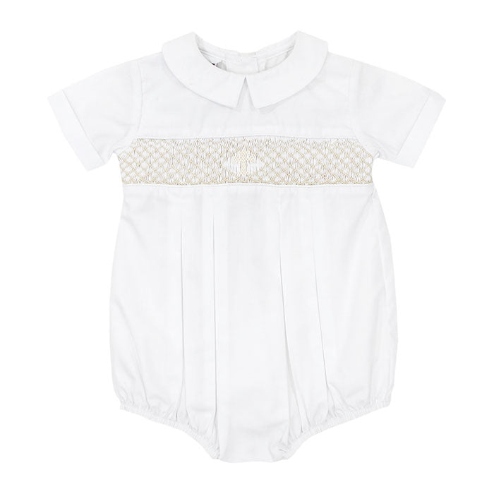 Bailey Boys - Smocked Christening Boys' Dressy Bubble