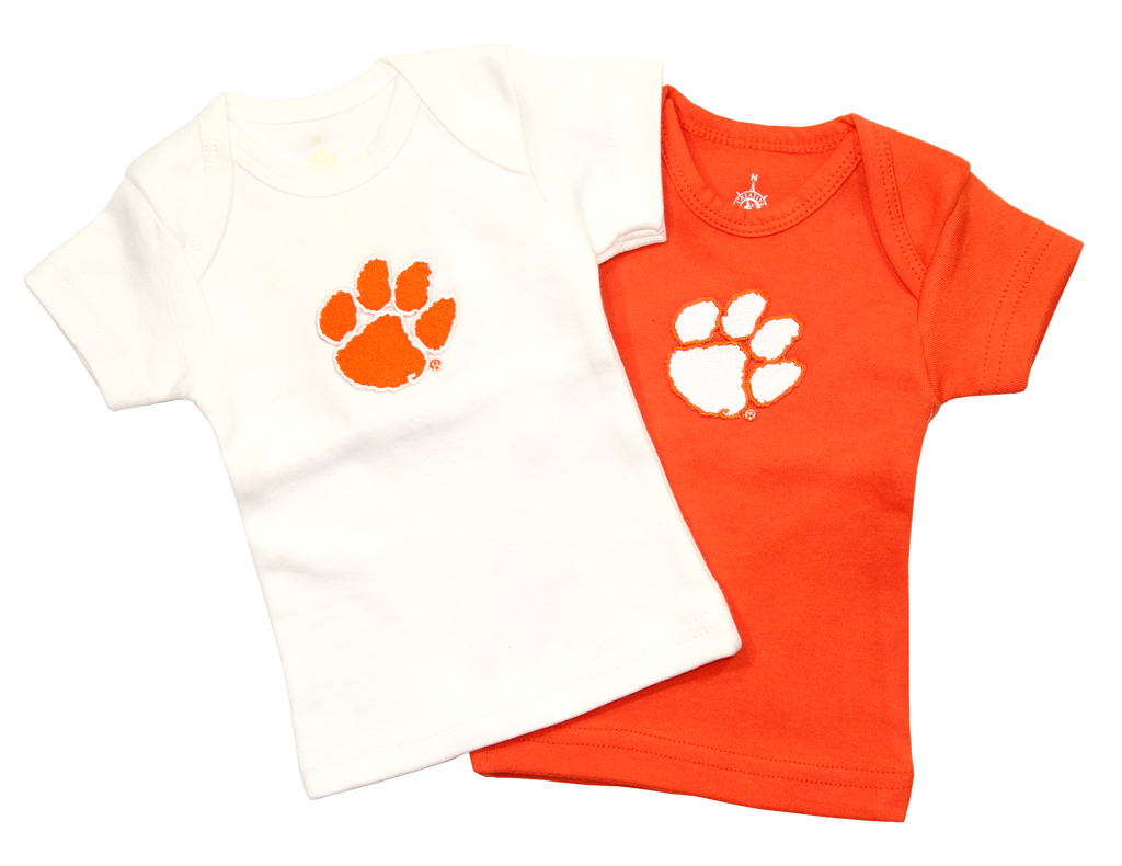 Clemson Infant Lap-Shoulder Tee - White