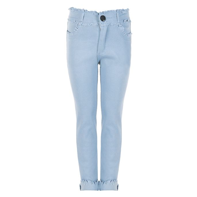 Coco & Carmen - Girls Raw Edge Distressed Capri Jeggings