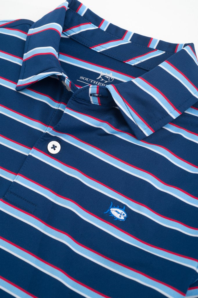 Southern Tide - Boys Freedom Multi-Stripe Performance Polo