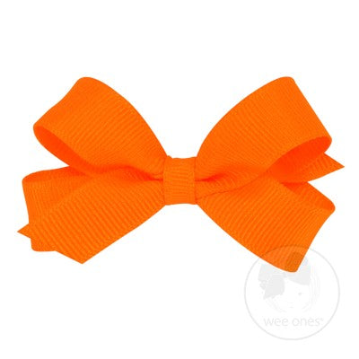 Wee Ones Hair Bow- Clemson Orange or Purple - Tiny Size