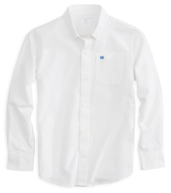 Southern Tide - Boys Classic White Oxford Shirt