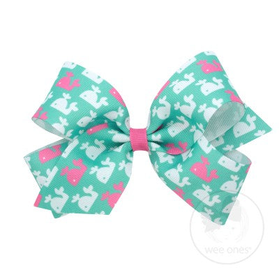 Wee Ones Hair Bow - Pink Whale