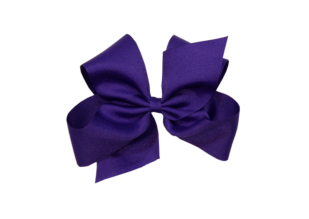 Wee Ones Hair Bow- Clemson Purple