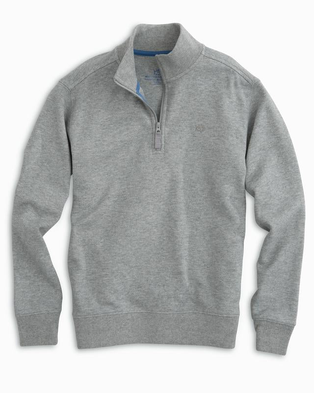 Southern Tide - Boys Heathered Skipjack 1/4 Zip Pullover