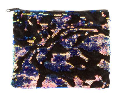 Scattered Magic Sequin and Velvet Pouch