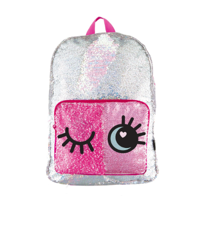 Silver Magic Sequin Backpack with Magic Reveal Pocket