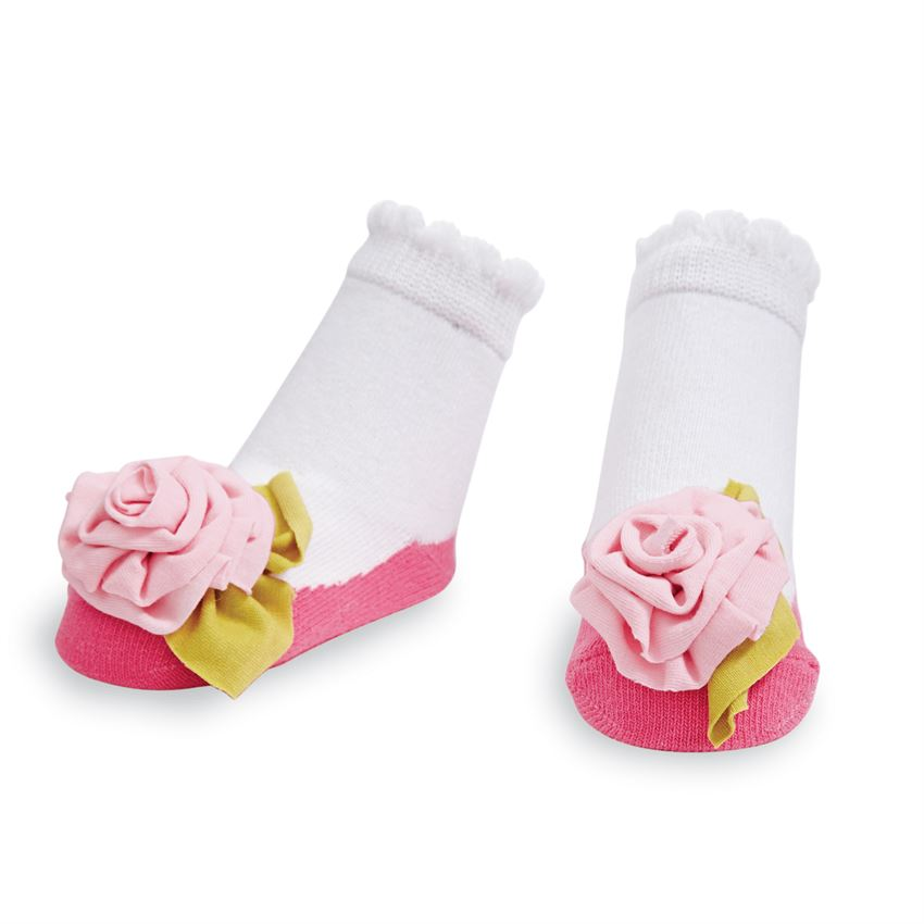 MudPie - Jersey Flower Socks
