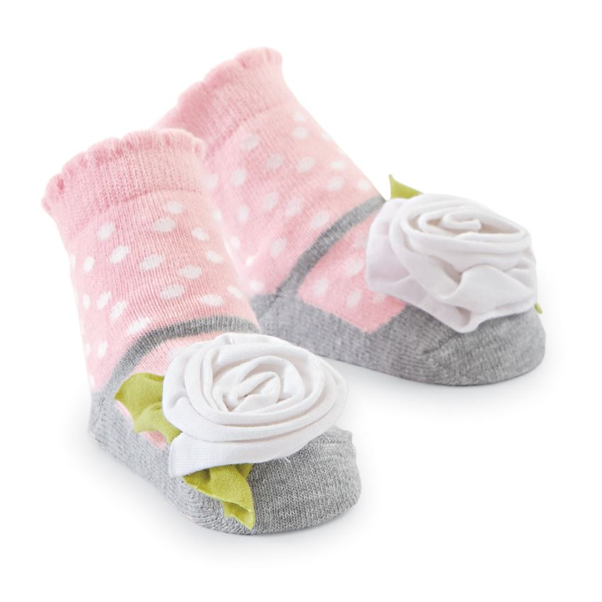 MudPie - White Flower Socks