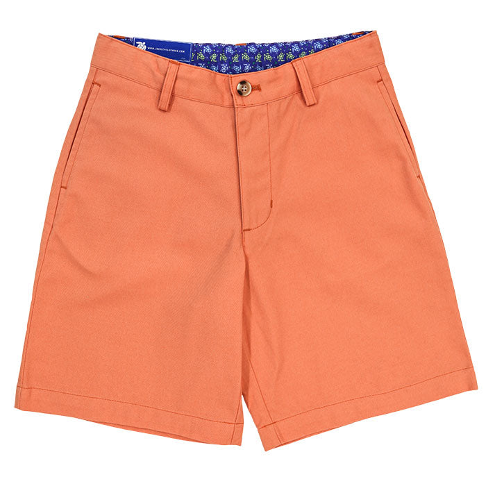 J. Bailey - Boys' Pete Shorts in Tangerine Twill