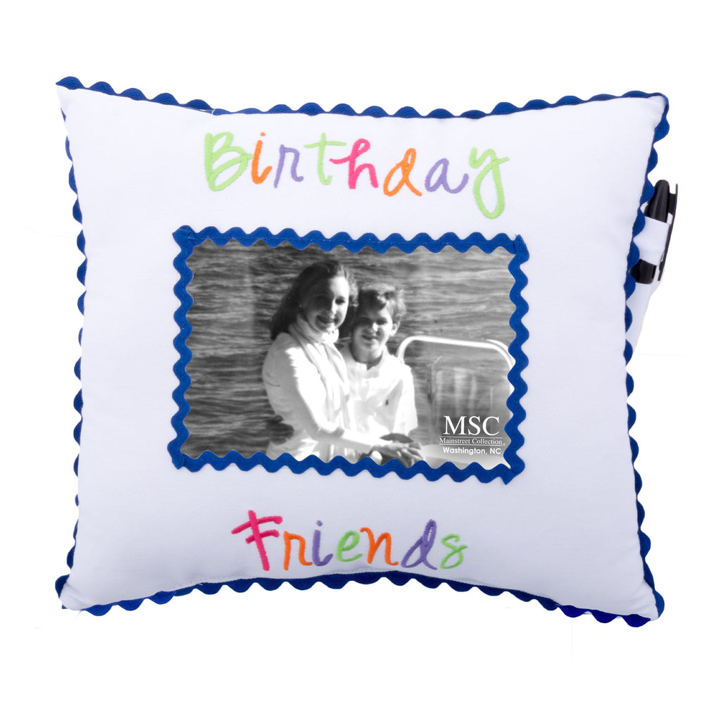 """Birthday Friends"" Autograph Pillow"