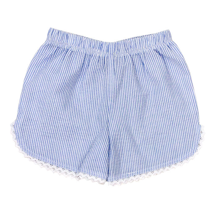 Bailey Boys - Light Blue Girls' Seersucker Shorts