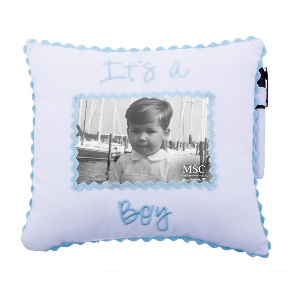 """It's a Boy"" Autograph Pillow"