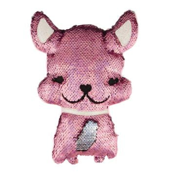 Magic Sequin Plush Bulldog