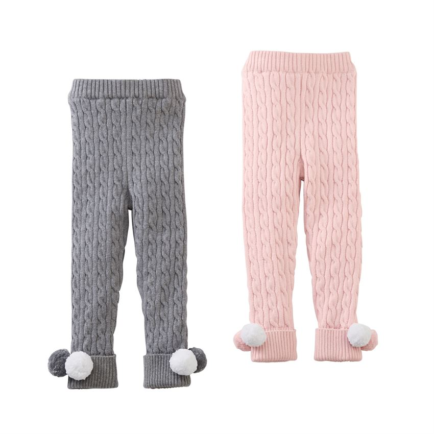 MudPie - Cable Knit Leggings in Gray or Pink