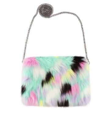 Magic Sequin & Faux Fur Evil Eye Bag