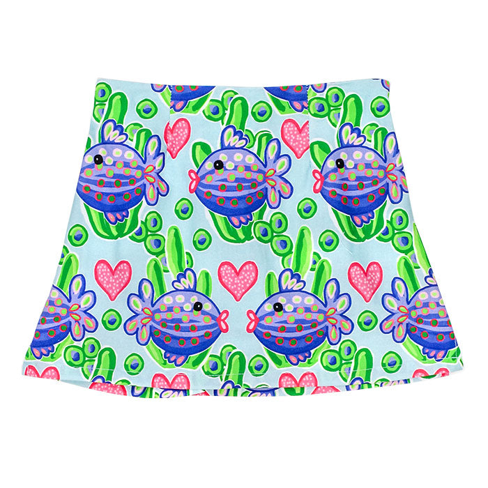 J. Bailey - Purple Fish Skort