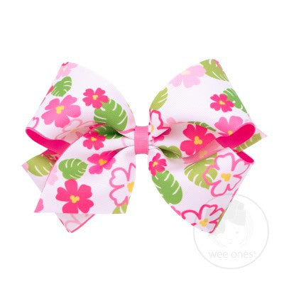 Wee Ones Hair Bow - Tropical Flower