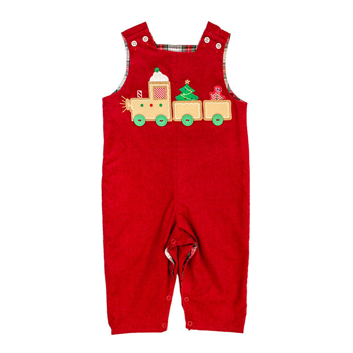 Bailey Boys - Gingerbread Train Reversible John John