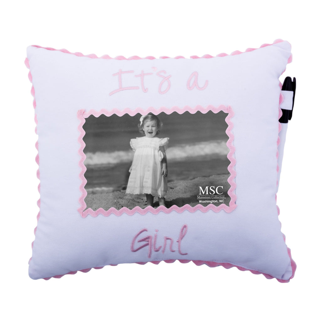 """It's a Girl"" Autograph Pillow"